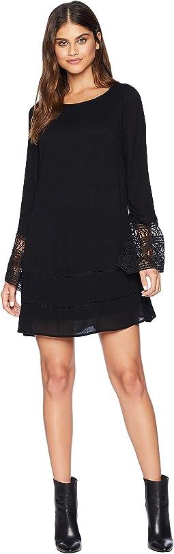 Sioban Long Sleeve Dress with Crochet Detail