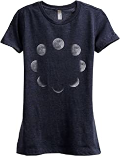 Moon Phases Women's Fashion Relaxed T-Shirt Tee
