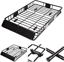 """Yescom Universal 64"""" Roof Rack Car Top Cargo Basket Carrier with Extension Luggage Holder"""