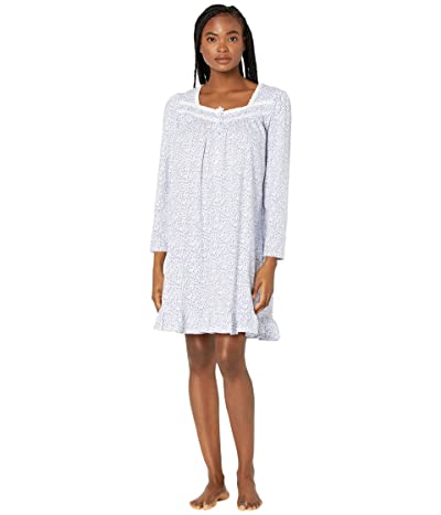 Eileen West Short Long Sleeve Nightgown (Bud Print) Women