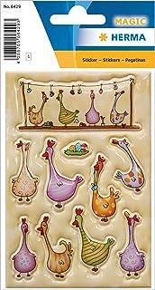 Herma Happy Easter Pegatinas, Gallinas de Colores, 16 x 9 cm