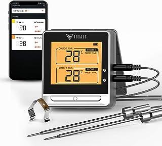 DOQAUS Termometro da Cucina Bluetooth Doppia Sonda, Termometro per Carne Digitale con Portata 50m, Ampio Display LCD, Alla...