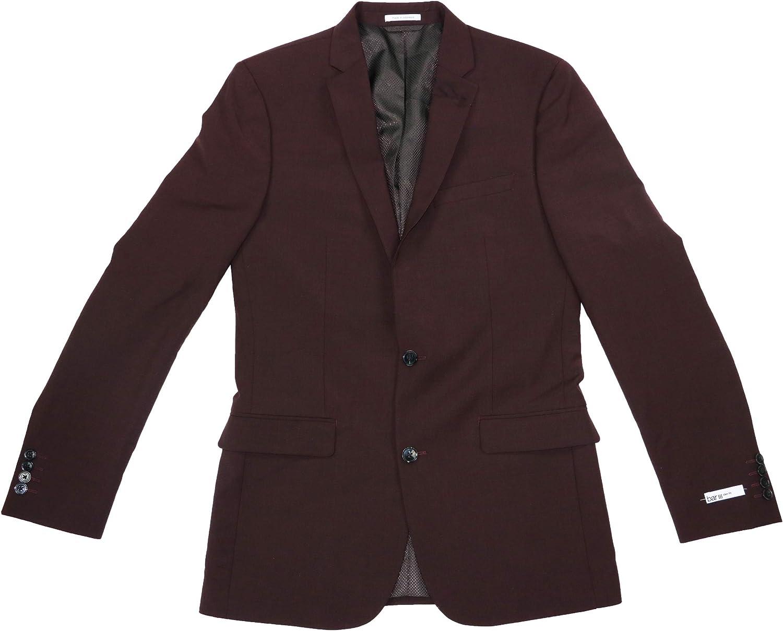 Bar III Men's Windowpane Wool Blend Active Stretch Fit Sport Coat Blazer