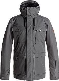 Quiksilver Snow Men's Raft Snow Jacket, Dark Shadow, L