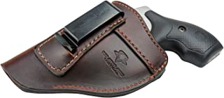 The Defender Leather IWB Holster – Fits Most J Frame Revolvers Incl. Ruger LCR,..