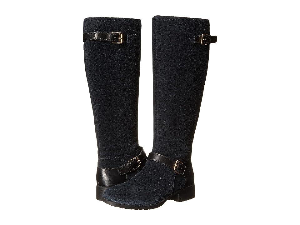 Cole Haan Marla Waterproof Boot (Black Suede/Black Leather) Women