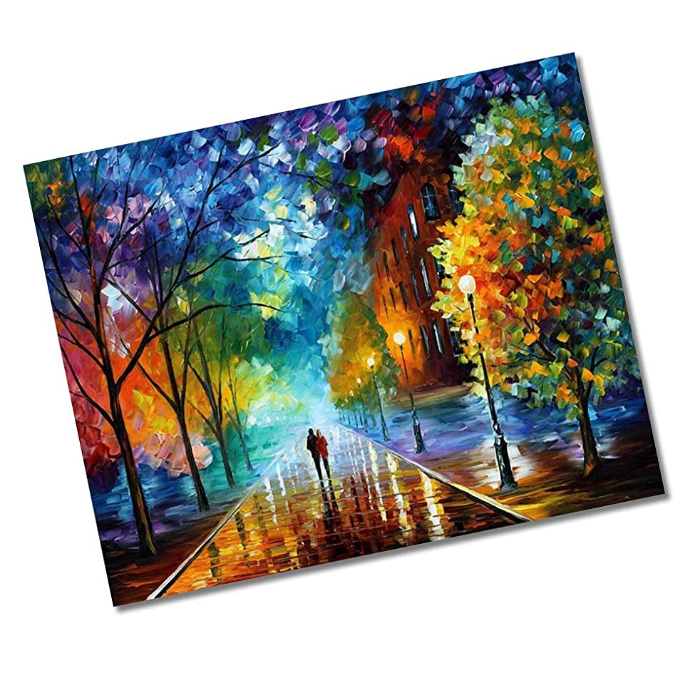 "DIY Oil Painting Newsight Paintworks Paint by Number for Kids and Adults (16"" x 20""Romantic Night)"