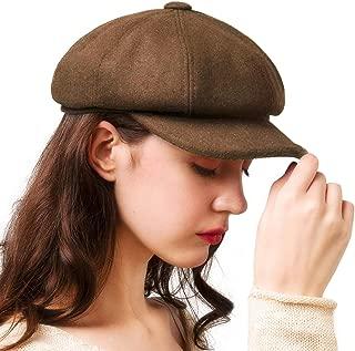 Women's Newsboy Cap Paperboy Hat Winter Wool Beret Hat Cabbie Fiddler Hat