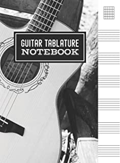Guitar Tablature Notebook: Blank Note Tablature Manuscript Journal - 5 Chord Boxes and 6-Line Staves