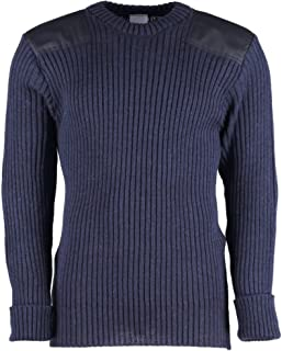 York Woolly Pully Crew Neck With Patches