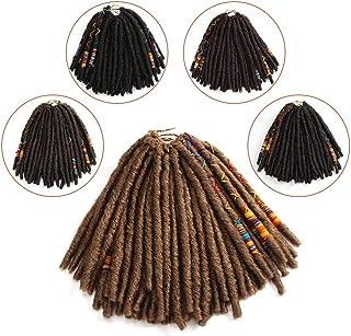 FASHION IDOL 12 Inch Goddess Locs Crochet Hair Pre-looped Faux Locs Crochet Honey Straight Twist Dreadlocks Kanekalon Crochet Braids Hair Extensions For Black Women 6 Packs
