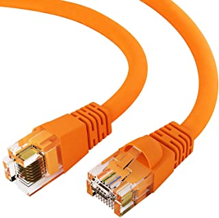 Konnekta Cable Cat5e Red Ethernet Patch Cable Pack of 10 6 inch Snagless//Molded Boot