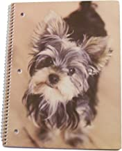 """Carolina Pad Studio C Wide Ruled Spiral Notebook ~ Puppy Paws (I'm Listening, Yorkshire Terrier; 8"""" x 10.5""""; 60 Sheets, 120 Pages)"""