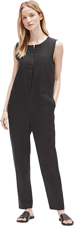 Round Neck Ankle Length Jumpsuit