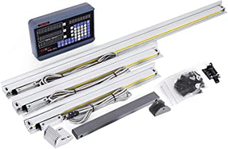 VEVOR 3 Axis Digital Readout DRO Display 450mm+500mm+900mm Travel Length Precision Linear Scale 17.7+19.7+35.4 Inch for Mill Milling Machine