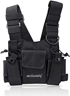 Radio Chest Harness Chest Front Pack Pouch Holster Vest Rig for Two Way Radio Walkie Talkie(Rescue Essentials)