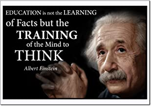 Albert Einstein quote poster laminated Young N Refined Landscape (16x20)