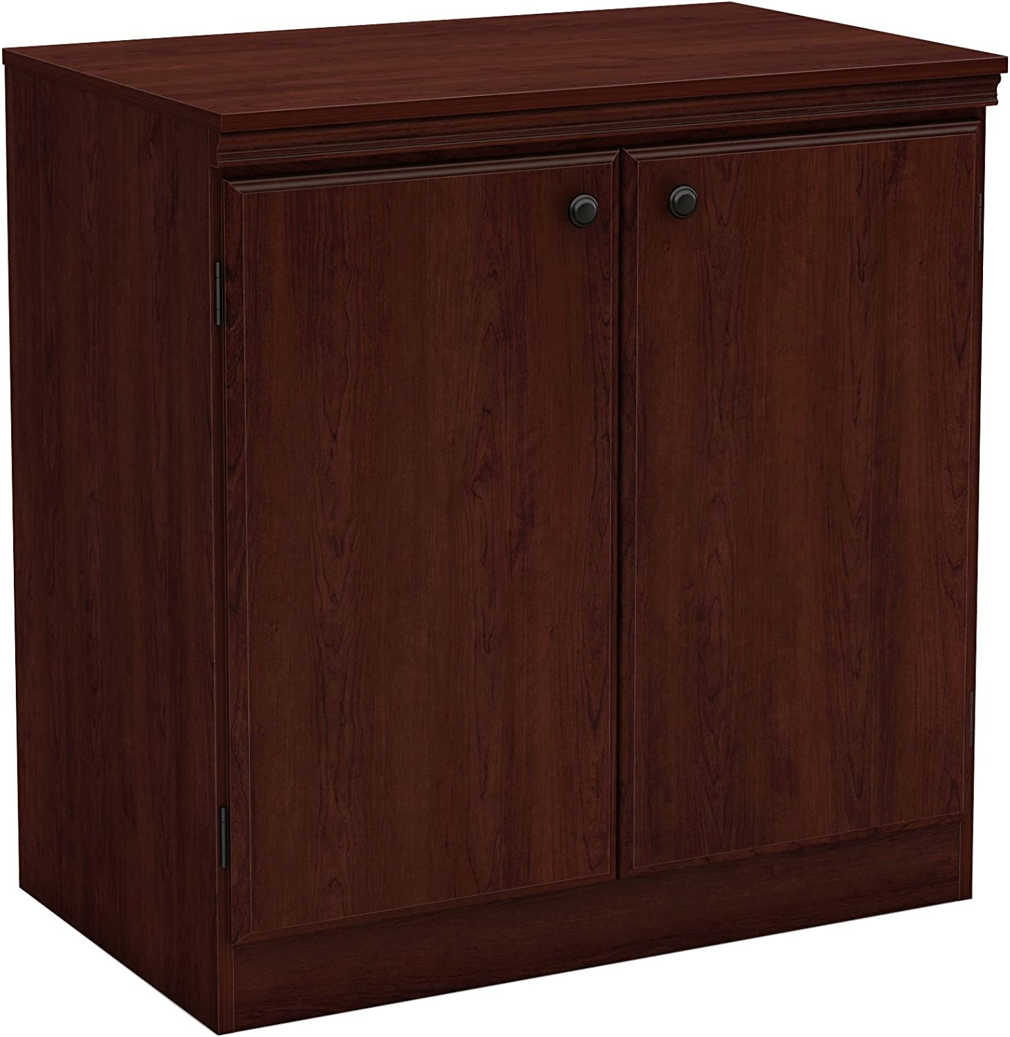 South Shore Furniture 7246722 Morgan Small 2-Door Storage Cabinet, Royal Cherry