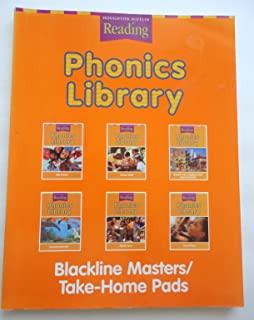 Phonics Library Blackline Masters/ Take-Home Pads, Houghton Mifflin Reading Level 2