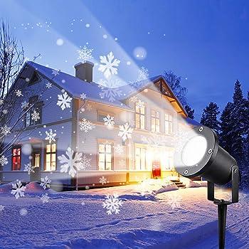 Wilktop Luces Proyector Navidad Halloween Festivos Fiesta. Proyecci/ón de Olas Oce/ánicas 12 Diapositivas+10 Colores 2 en 1 Luces de Proyector IP65 Exterior Proyector con Control Remoto para Navidad