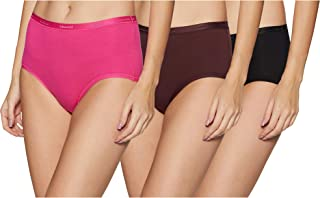 Amante Women's Plain/Solid Brief ,Pack of 3