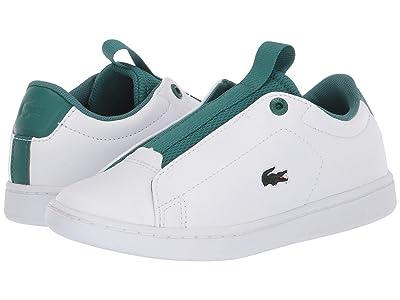 Lacoste Kids Carnaby Evo Easy 120 1 SUC (Little Kid) (White/Green) Kid
