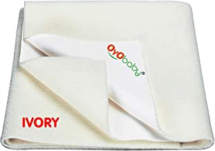 OYO BABY Water Resistant Bed Protector Baby Dry Sheet with Ultra absorbance -Medium (100 cm X 70 cm), Ivory