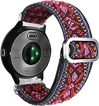 Abanen Elastic Watch Band for Garmin Venu/Vivoactive 3, Embroidery Stretchy Loop Elastic Adjustable Wristband Strap for Ga...