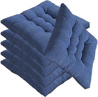 Cojines de asiento de mimbre al aire libre, almohadillas de silla de algodón, cojín de silla cuadrada con lazos, cojín para el hogar, para mecedora, comedor, patio, camping, sillas de cocina, (40X40