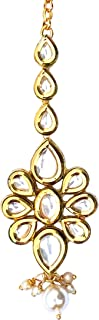 The Tikka Shop - Traditional Indian Maang Tikka - Statement Bollywood Hair Jewelry for Wedding Party Bridal & Bridesmaid -...