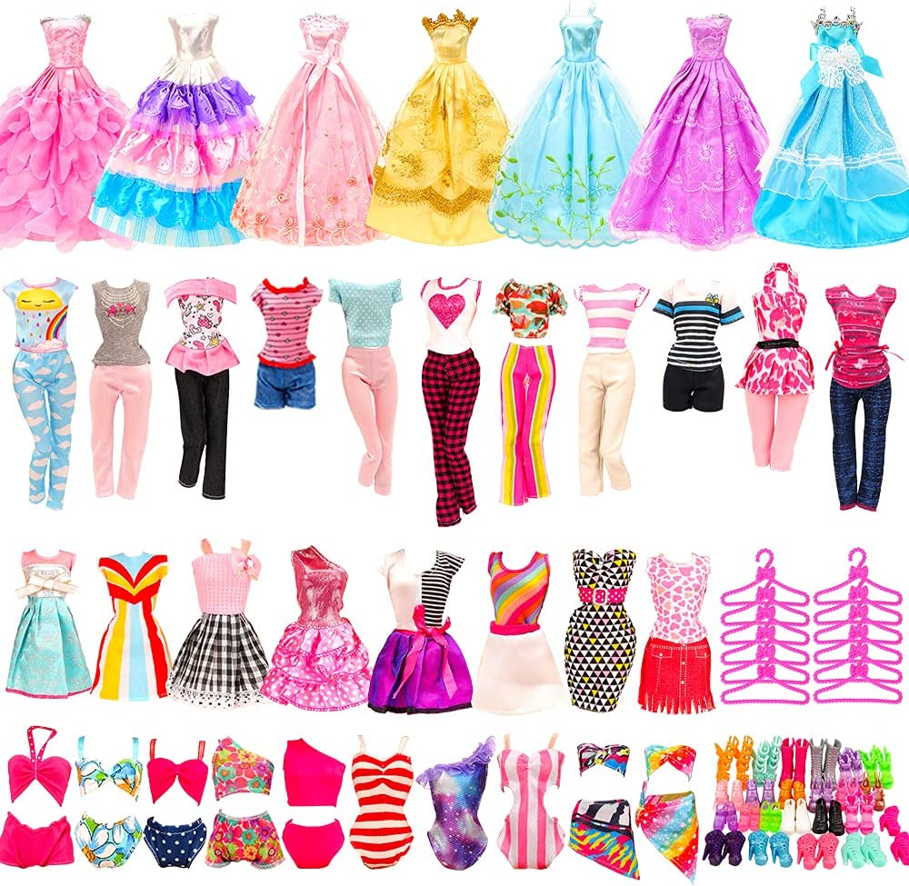 BARWA Popularity 36 Pack Super Special SALE held Doll Clothes and PCS 5 Accessories Fashion Dresses