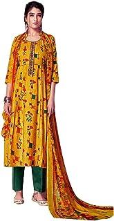 Ladyline Rayon Printed Salwar Kameez Ready to Wear Womens Indian Dress Bollywood