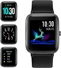 Smart Watch for Android iOS Phone, Fitness Tracker Watch Health Exercise Smartwatch with Pedometer Heart Rate Monitor Sleep Tracker IP68 Waterproof Compatible with iPhone Samsung for Men Women (Black)
