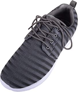 Absolute Footwear Mens Light Weight Lace Up Mesh Style Memory Foam Trainers/Shoes/Pumps