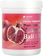 Umeken Pomegranate Zakuro Ball EX - Concentrated Pomegranate Extract, Natural Vitamins, Minerals, Citric Acids and Tannins. Chewable, Made in Japan. About a 2 Month Supply.