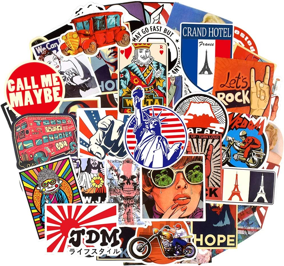 Classic Style Stickers Retro Stickers Collectible Stickers Vintage Sticker Packs