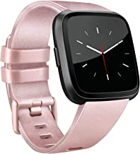 Vancle Bands Compatible with Fitbit Versa Bands for Women Men Rose Gold Silicone Wristbands for Fitbit Versa Bands/Fitbit Versa Lite Bands/Fitbit Versa 2 Bands
