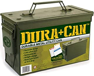 Be Smart Get Prepared 1-Piece Dura+Can Metal Utility Can, Medium, 5.72 Pound