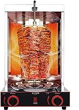 LOVEHOUGE Machine À Kebab, Machine À Barbecue À Gril Vertical Électrique avec 2 Brûleurs, Barbecue sans Fumée pour Famill...