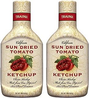 Traina Foods Gourmet - Sun Dried Tomato Ketchup (2 Pack) (16 oz each)