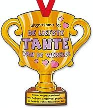 trofee Liefste Tante van de wereld! 33 cm karton goud