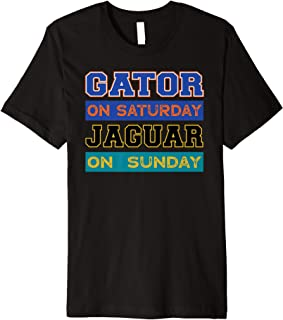 Gator On Saturday Jaguar On Sunday Jacksonville Football Premium T-Shirt