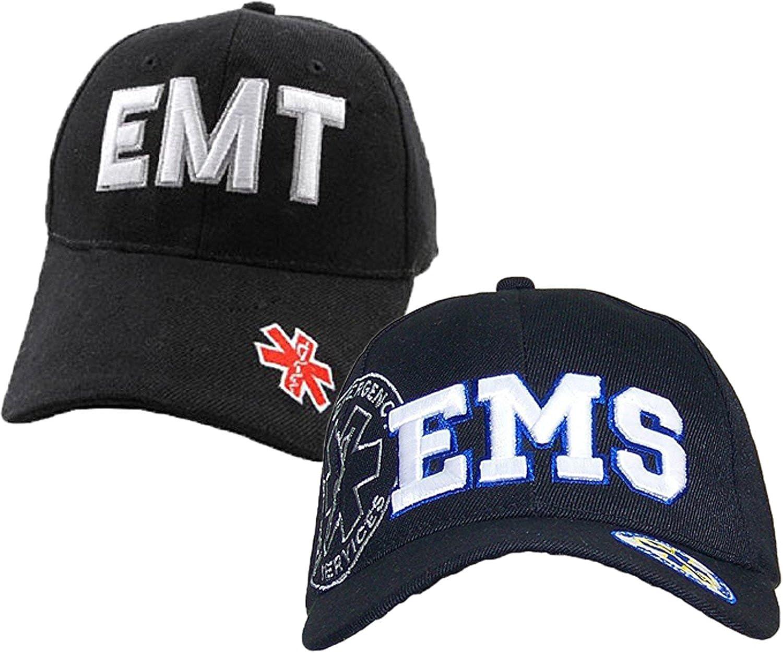 EMS Emergency Medical Services & EMT Emergency Medical Technician Baseball Cap Hat