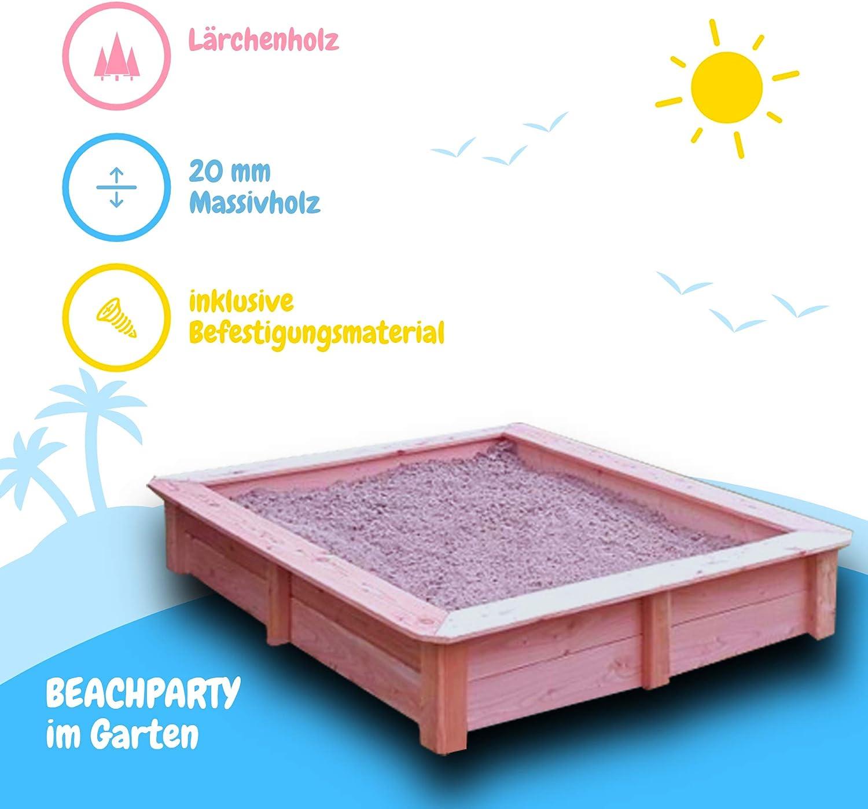 Sandkasten aus Lärchenholz, Außenmaß ca. 8x8 cm Amazon.de ...