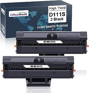 OFFICEWORLD MLT-D111S MLT-D111L Cartucho de Toner Reemplazo para Samsung D111S D111L para Samsung Xpress SL-M2026W M2020W M2070 M2070FW M2026 M2020 M2022 M2022W M2070W M2070F M2078W (2 Negro)