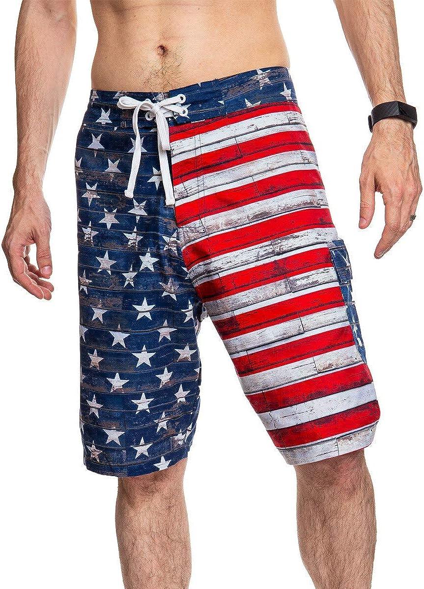 Men's USA Flag Boardshorts