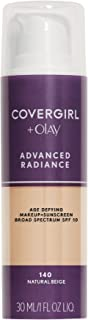 CoverGirl Advanced Radiance Liquid Makeup, Natural Beige 140, 1.0-Ounce