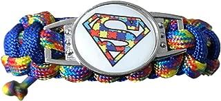 Infinity Collection Autism Awareness Paracord Bracelet - Autism Jewelry, Adjustable Autism Bracelet- Hope Charm Bracelet- Puzzle Piece Bracelet- Perfect Giift