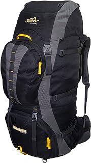Summit - Mochila de senderismo para hombre y mujer (85 L, 15 L), Unisex adulto, SUMMIT 85, negro y amarillo