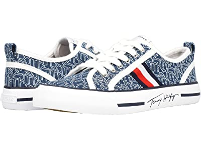 Tommy Hilfiger Glorie (Vintage Blue Multi/White/Signature) Women